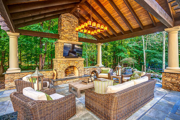 Best Outdoor Living Room Design Ideas | Outdoor Living ... on Backyard Exterior Design id=44331