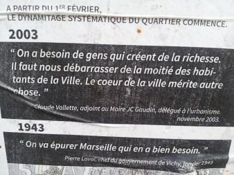 Affiche mémoire 2 - quartier Saint-Jean - Marseille 2e