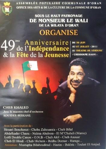 Affiche 49e anniversaire de l'Indépendance (2011)