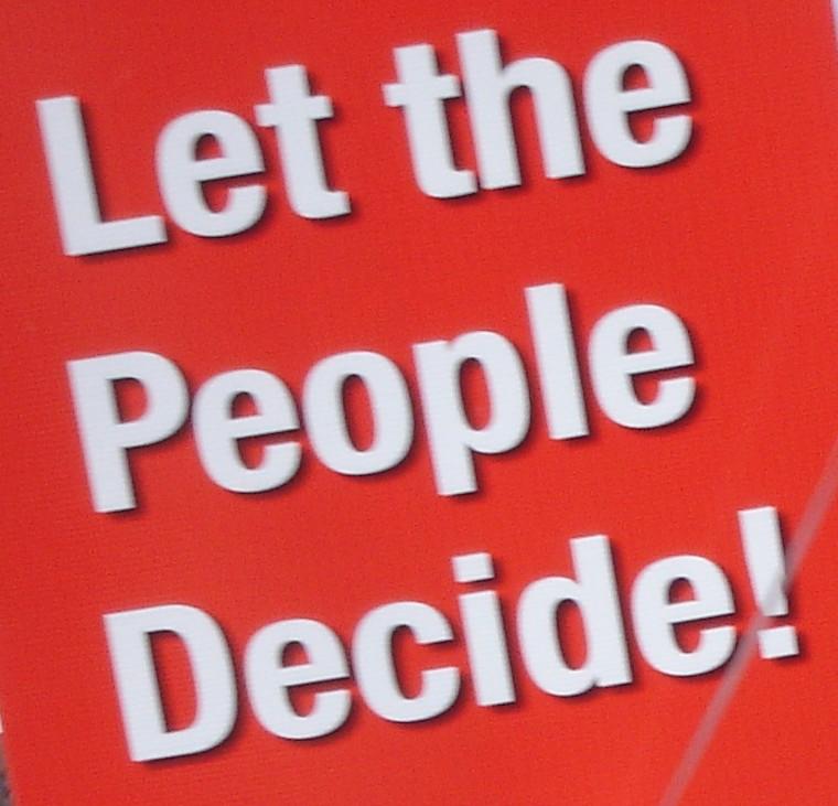 Hasil gambar untuk let the people vote