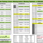 Plan d'entraînement hivernal (Octobre à Décembre 2019) – Débutants – CAEG