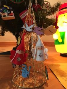 祈り・ミニクリスマスツリー