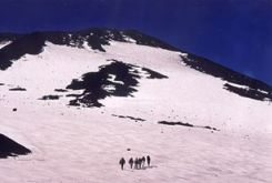 Beklimming Villarica, Chili
