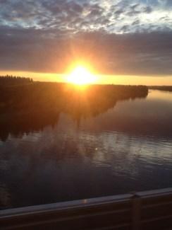 sunset Abisko