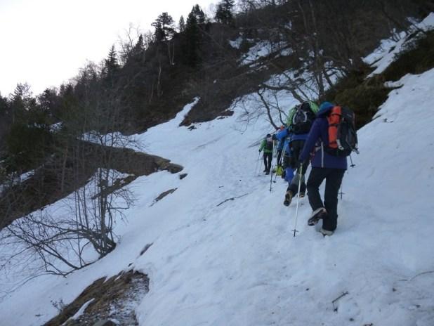 Sortie école d'aventure du club alpin de Bagnères-de-Bigorre au pic de Barrassé