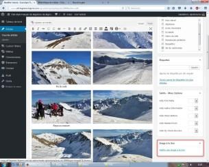 """Puis un peu plus bas cliquer sur """"Mettre une image à la Une"""" (Cela permet d'afficher une photo de présentation sur la page d'acceuil du site.)"""