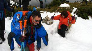 La neige épaisse et inconsistante est propice aux enlisements