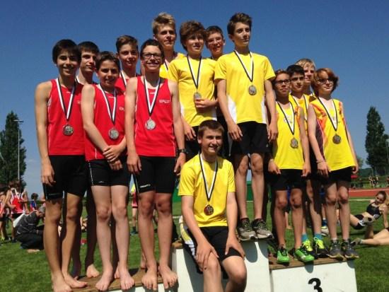 2e place de l'équipe U16 - relais vaudoise