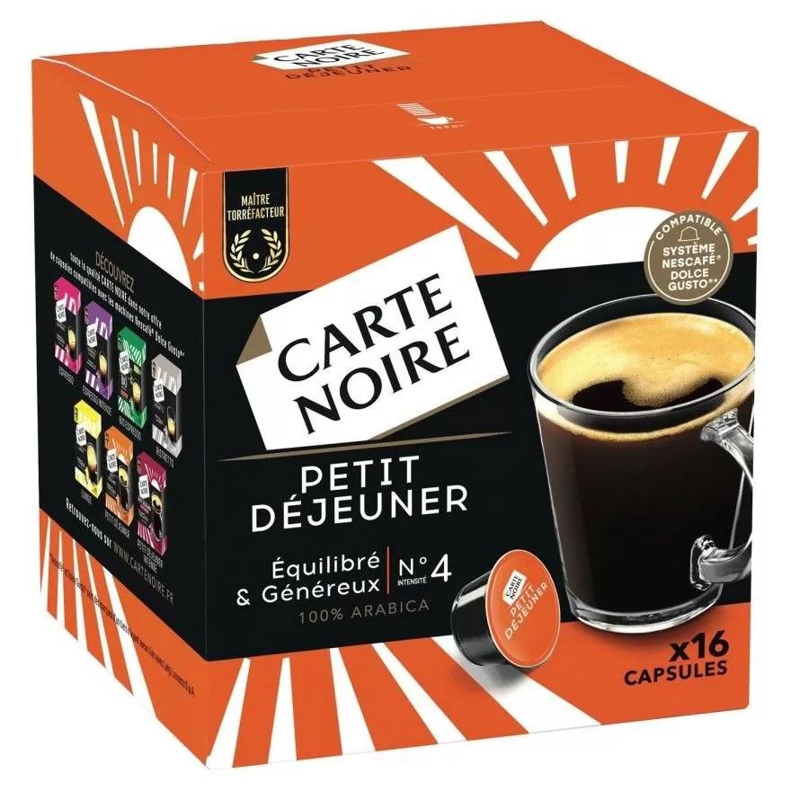 carte noire dolce gusto petit dejeuner x16