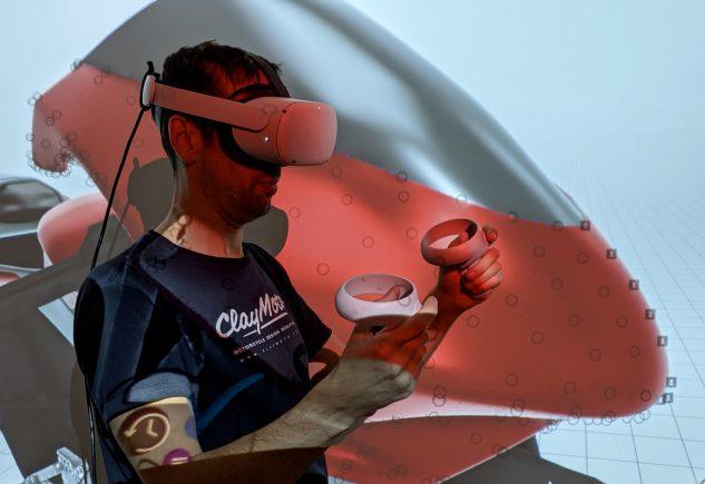 Modelage d'argile réalité virtuelle