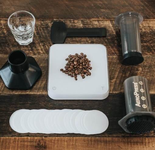 Cafetera Aeropress + 350 filtros + accesorios