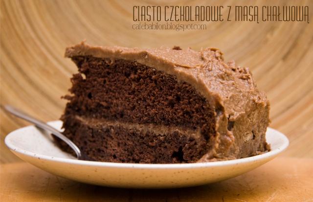 Ciasto czekoladowe z chałwą