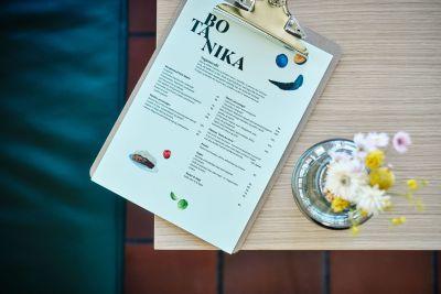 Botanika - interiør - menu