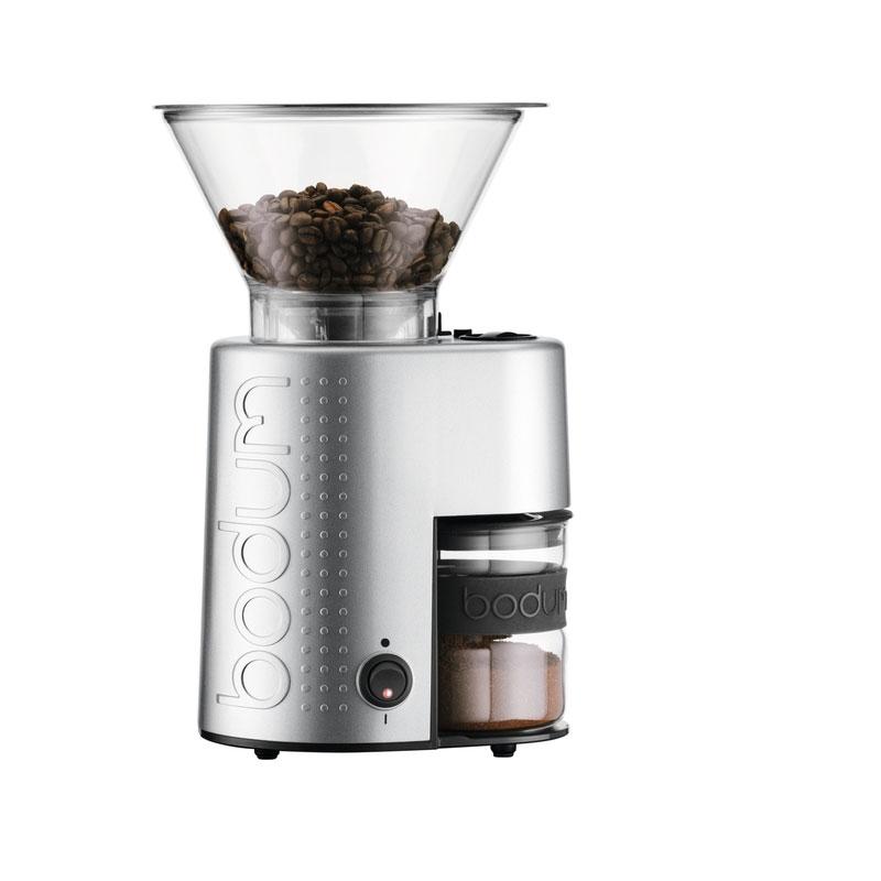 moulin a cafe electrique bistro inox metal bodum cafe d oriant