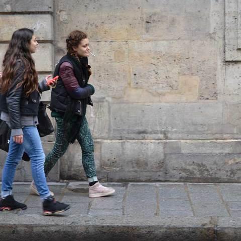 Parisian Girls on the street