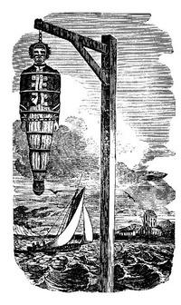 Pendaison et exposition du corps de William Kidd