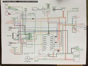 Honda CB360 custom wiring