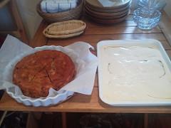 バナナチョコケーキとティラミス