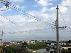 今日はちょっと曇り空