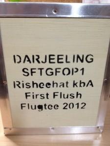 Té negro Darjeeling de primera cosecha del 2012