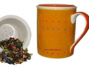 Tisanera de cerámica con infusor de cerámica