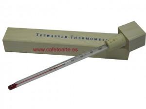 Termómetro de Té con funda de madera