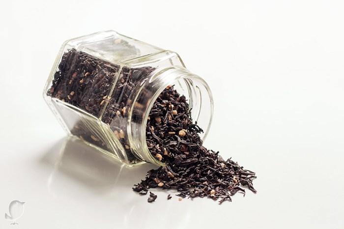 Bizcocho de trufa: té