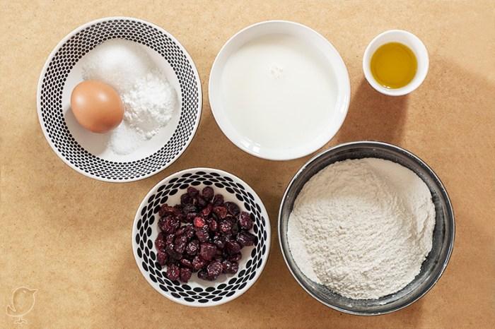 Café de arándanos con tortitas: ingredientes