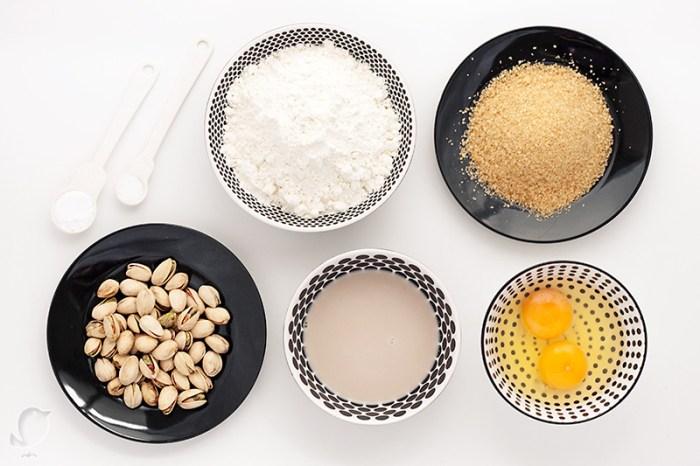 Biscotti de pistacho: ingredientes