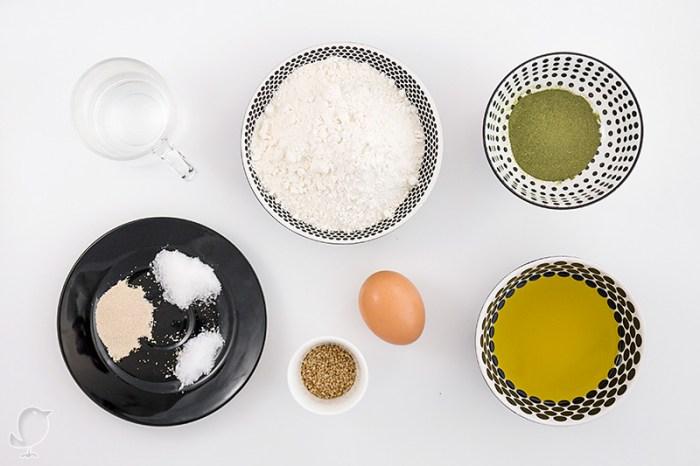 Bollos de té Matcha-Bancha: ingredientes