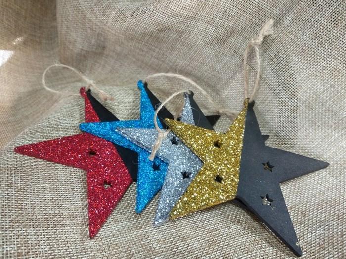 decoracion artesanal bekoffee, estrellas de navidad