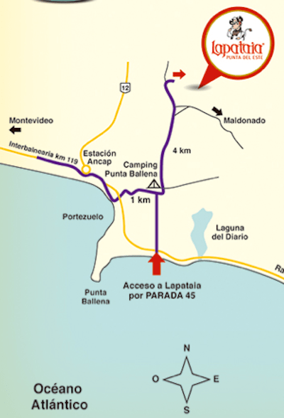 Mapa site http://www.lapataiapuntadeleste.com/