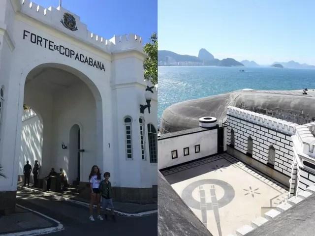 Rio com crianças Forte de Copacabana