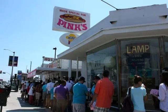 Pink's Hot Dog Los Angeles