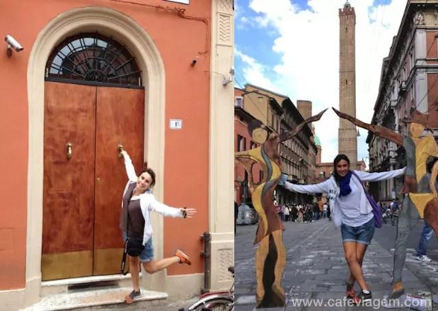Porta de entrada do apartamento do Blog Ville e torres de Bologna