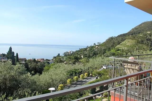 visual das varandas dos quartos do Il Parco em Monterosso al mare