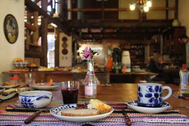 A delicadeza do café da manhã da Pousada Volta ao Mundo