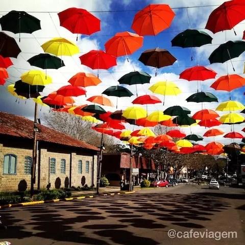 A rua principal de Canela, linda!!!