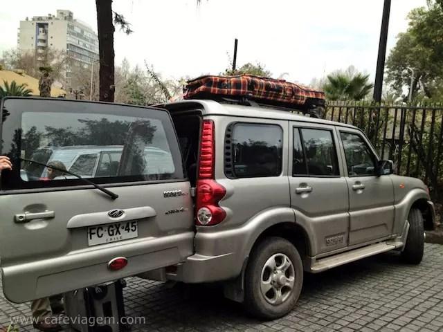 Partida de Santiago do Chile com a Exploring Chile