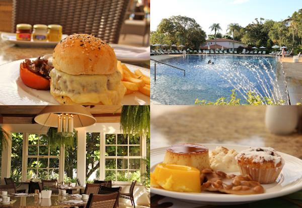 Restaurante Ipê: o bom mesmo é comer nas mesas da piscina!