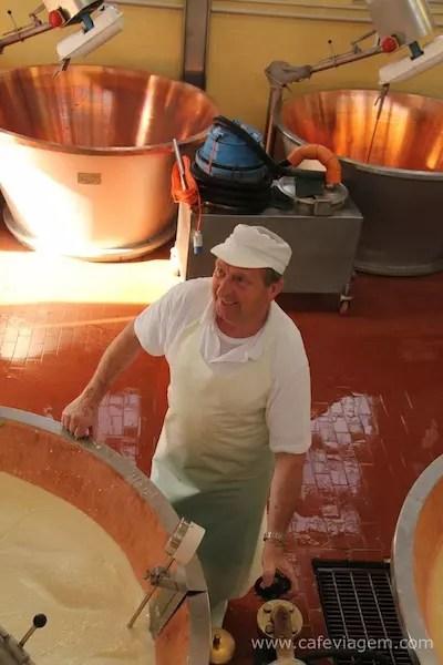 O grande Masterchef do Parmigiano dias antes de se aposentar do seu ofício.