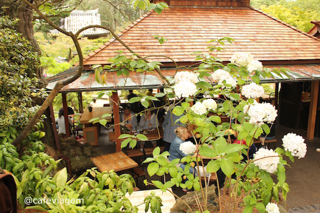 o lindo local do chá no Tea Garden!!