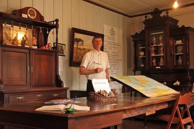 O historiador Heinz que nasceu na casa do Museu