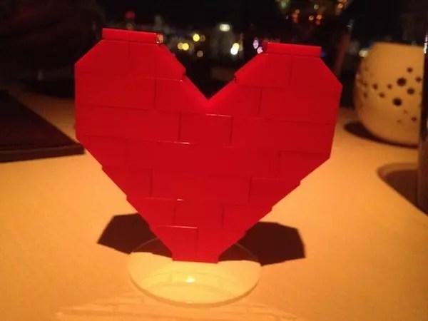o presente que ganhei de Valentine's Day