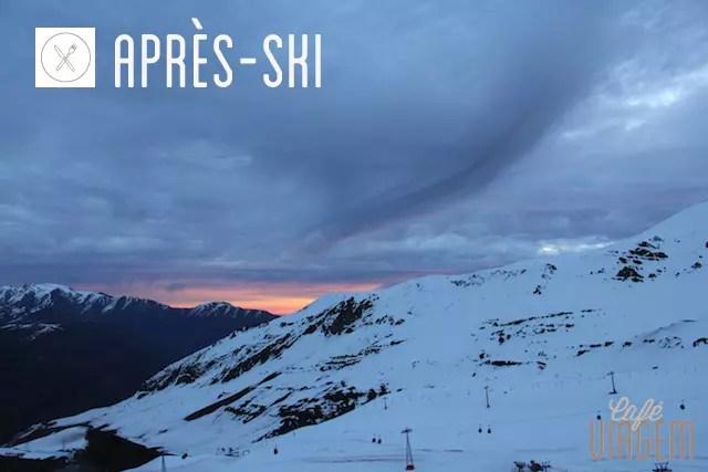 visual das janelas durante o après ski