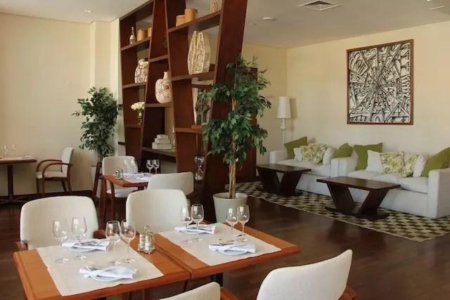 Ambiente do restaurante Zaffarano, onde também é servido o café da manhã