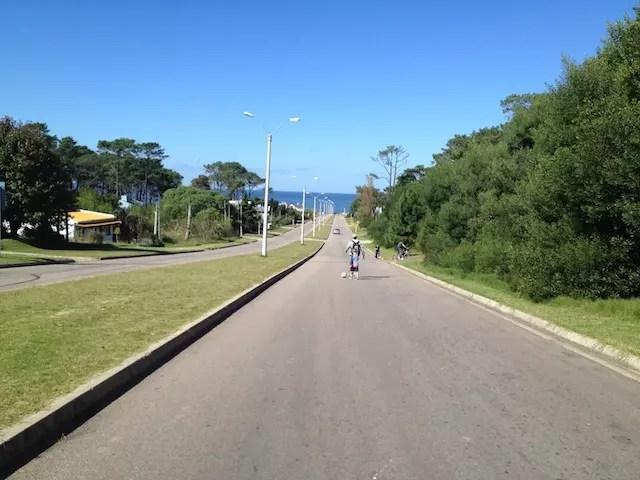 Caminhada até a praia