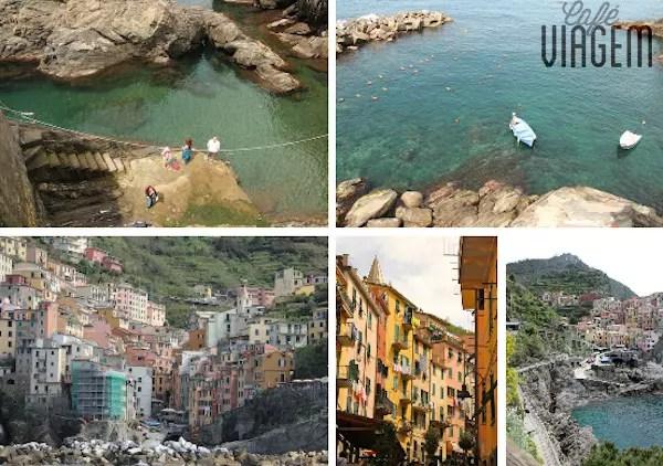 Dia 2: barco até Riomaggiore com sol e calor, oba