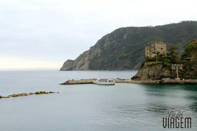 O ponto de partida dos barcos em Monterosso: linda vista!
