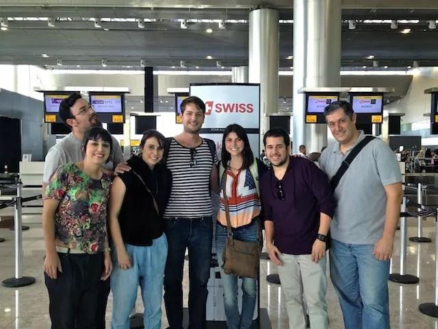 Organizadores do projeto, Café Viagem e Hypness se encontram antes do embarque